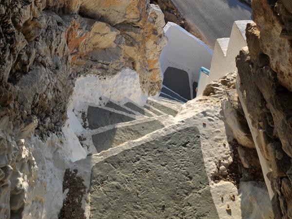 Chapelle d'Aghia Triadha, à Lagadha, Amorgos (Cyclades), août 2013.