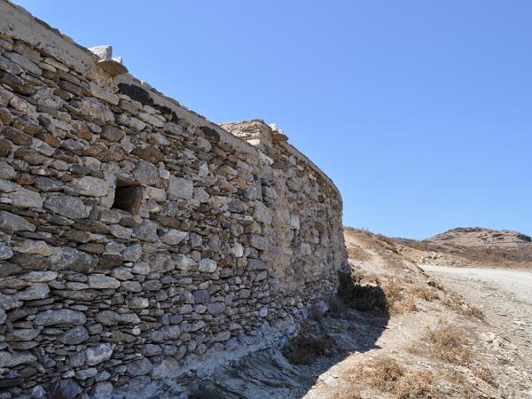 Ruines de Minoa, au-dessus de Katapola, Amorgos (Cyclades), août 2013.