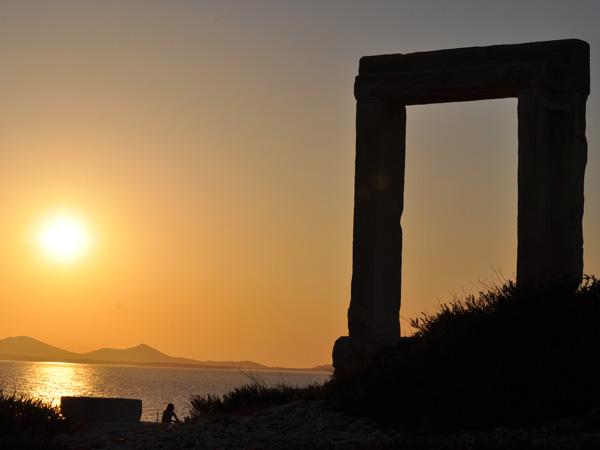 Portara (Temple d'Apollon), Chóra, Naxos, août 2013.