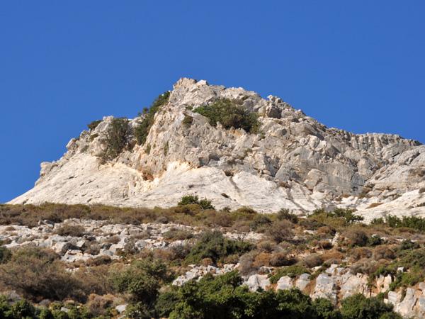 Naxos, août 2013. Près du mont Zas, point culminant des Cyclades (1001 m).