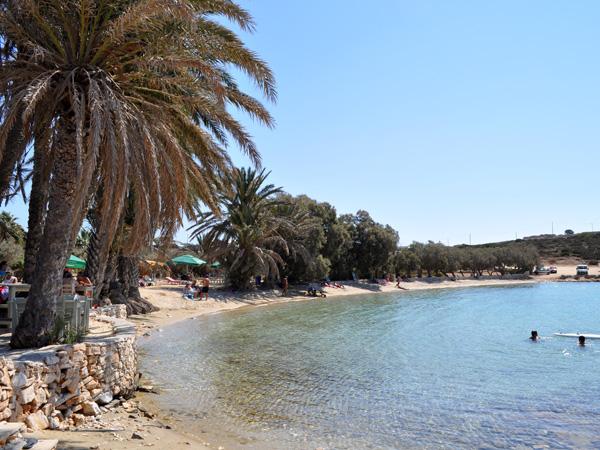 Plage d'Aghia Irini, au sud de Parikia. Paros, septembre 2013.
