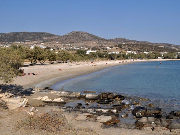 Plage d'Alyki, au sud-ouest de l'île. Paros, septembre 2013.