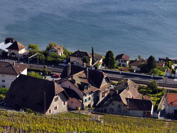 Villette, village vigneron de Lavaux, mai 2014.