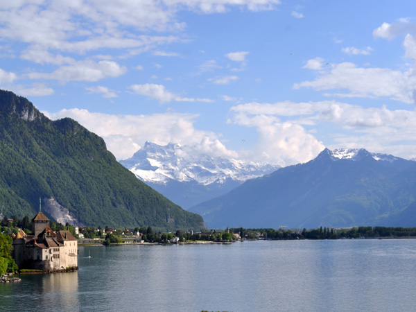Castle of Chillon, Veytaux (east of Montreux), May 2014.
