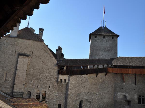 Château de Chillon (Chillon Castle), Veytaux (east of Montreux), June 2014.