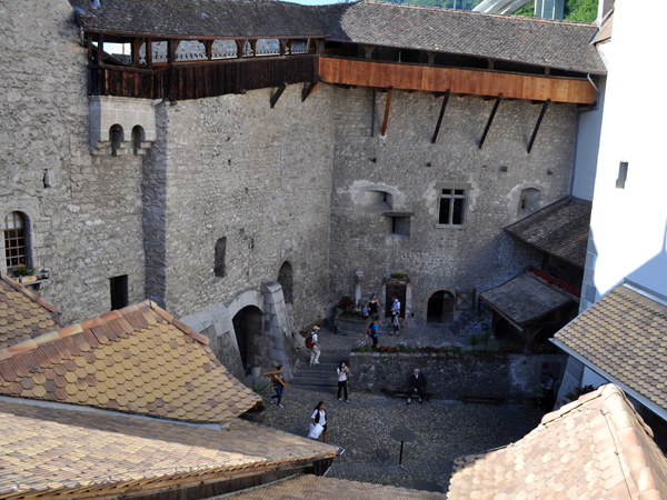 Château de Chillon (Chillon Castle), Veytaux (east of Montreux), June 2014.