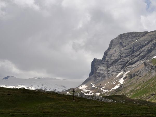Sanetsch mountain pass area, June 2014. Road and restaurants open only from June till September.