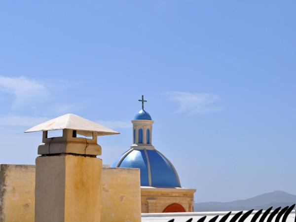 La colline d'Ano Syros, à Ermoupoli (Syros), capitale administrative des Cyclades, 2012.